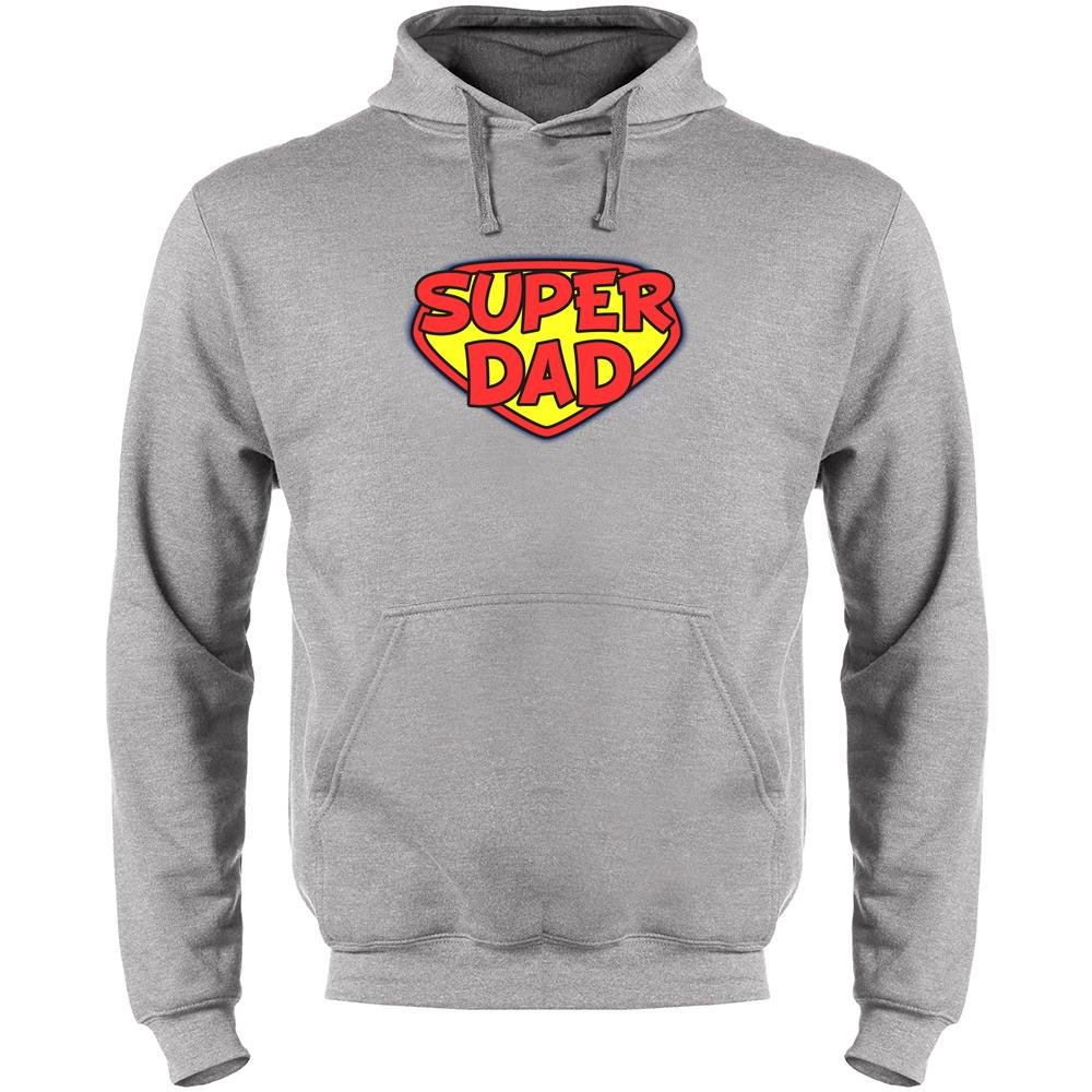 Pop Threads Superdad Fathers Day Mens Fleece Hoodie Sweatshirt