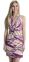 Laundry by Shelli Segal Women's Twist Front Bodycon Dress in Sandwash/Magenta