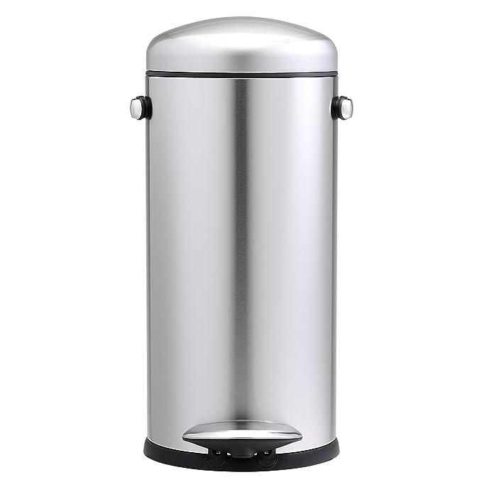 Amazon.com: Bote de basura redondo con pedal de 30 litros ...