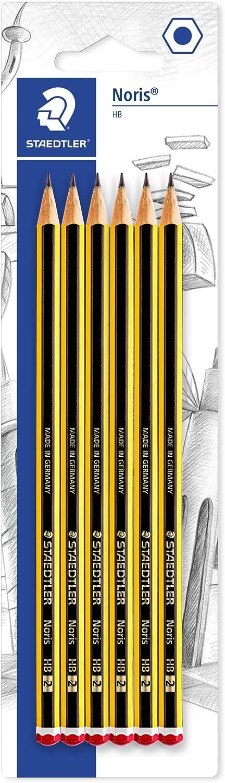 Staedtler 120-2BK6DAST, Lápices, Mina HB, 6 unidades, Negro