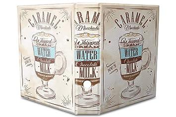 Archivador A4 Carpeta 2 anillas 60mm impreso Receta dulce de leche: Amazon.es: Hogar