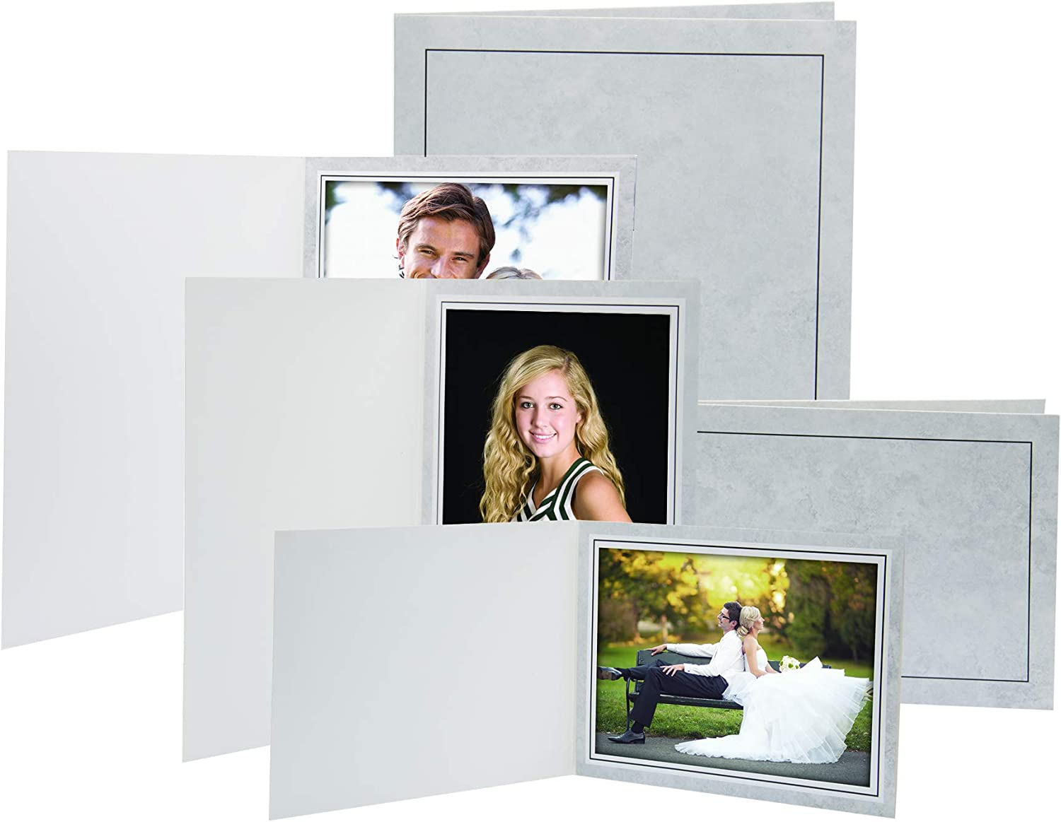 Golden State Art Cardboard Photo Folder White -GS010 Fit 8x10 or 6x8 Pack of 25