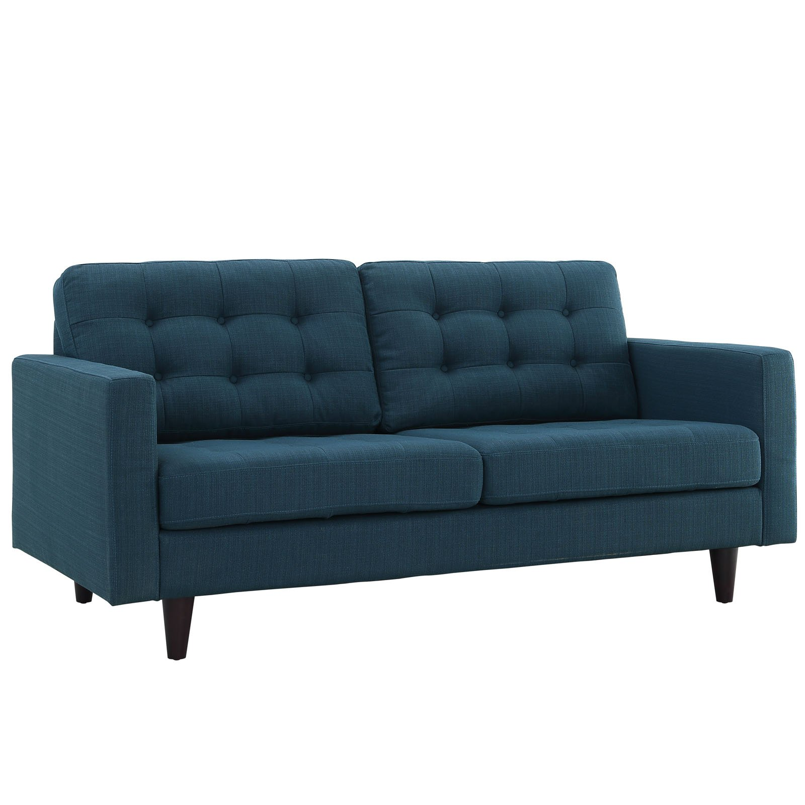 Modway Empress Mid-Century Modern Upholstered Fabric Loveseat In Azure by Modway (Image #3)