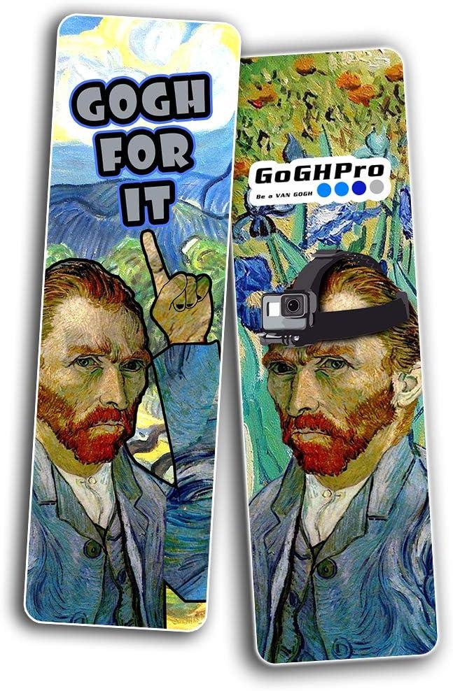 30-Pack Cadeaux et r/écompenses Artiste Incentives -Silly Blagues Bookmarker Cartes Favoris Obs/éd/é par m/ème Van Gogh s/érie 1 - Gift Set Premium Funny Van Gogh Impressions c/él/èbres Art