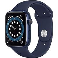 Apple Watch Series 6 (GPS, 44-mm) kast van blauw aluminium - Donkermarineblauw sportbandje