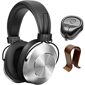 Pioneer estéreo inalámbrico Bluetooth over-ear auriculares plata (se-ms7bt-s)