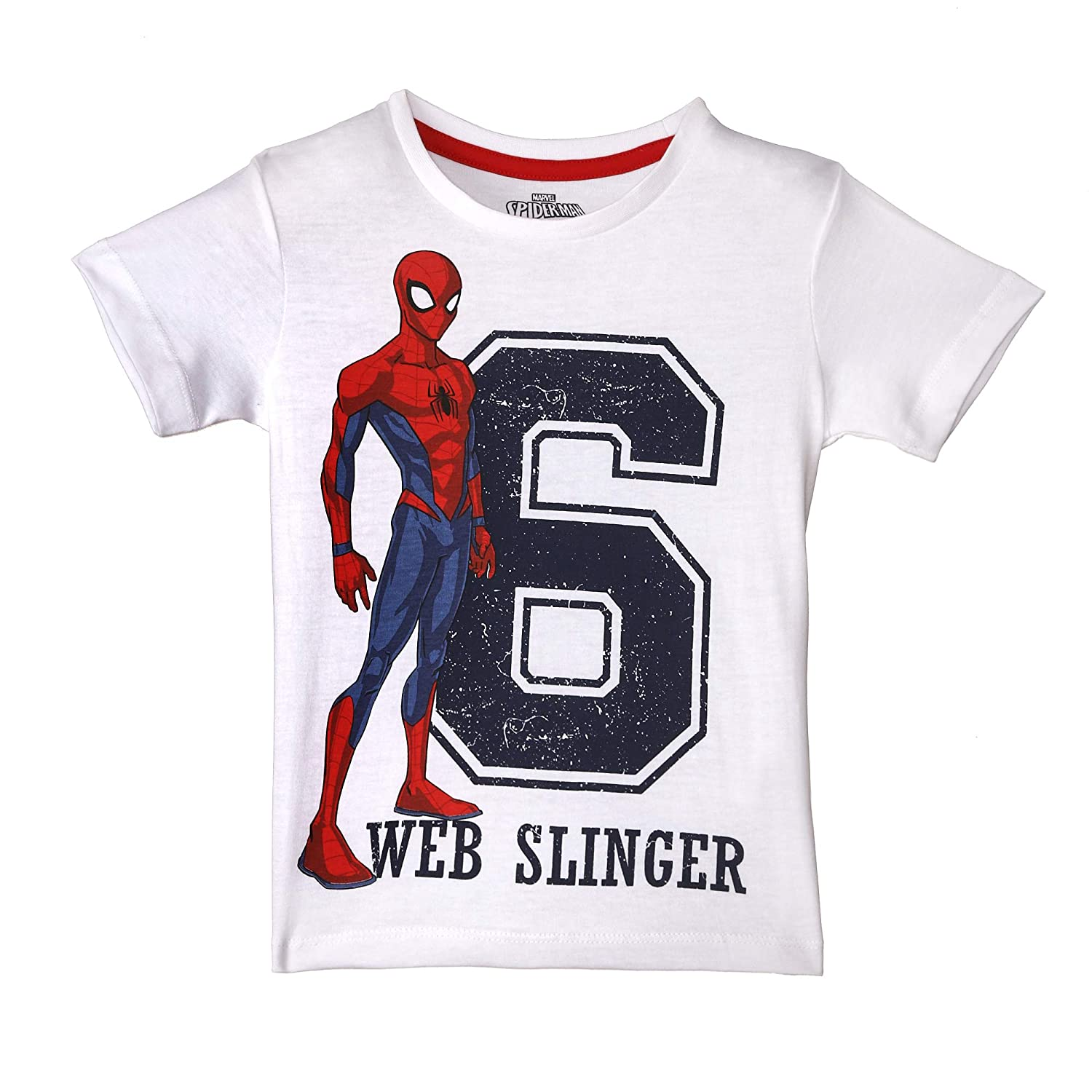 0f8262f3 Spiderman By Kidsville Boy's Half Sleeve T Shirt: Amazon.in: Clothing &  Accessories