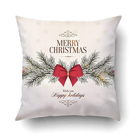 Amazon.com: Emvency Pillowcases Xmas Dec Merry Christmas And Happy ...