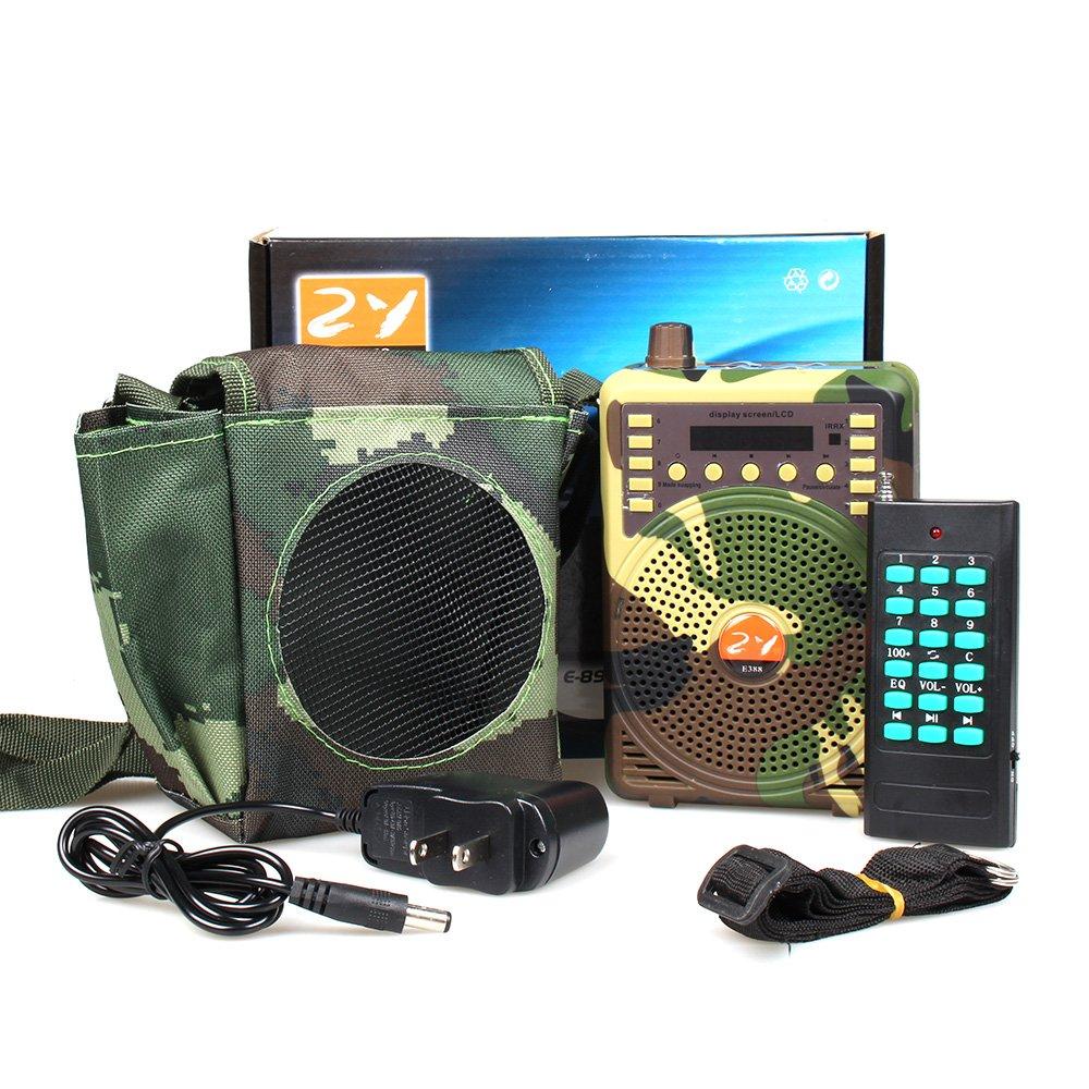 ZY Audio e-388 camuflaje control remoto caza señuelo altavoz electrónico juego llamada pájaro llamada megáfono Predator Lure amplificador de la voz sonido ...