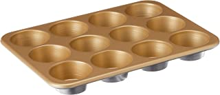 product image for Nordic Ware Naturals Aluminum NonStick Muffin Pan, Twelve 2-1/2 Inch Cups