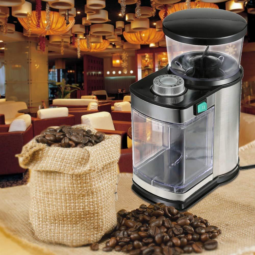 Electric Coffee Grinder Bean Coffee Maker Grinding Machine Stainless Steel Shell Multifunction Household Coffee Grinders