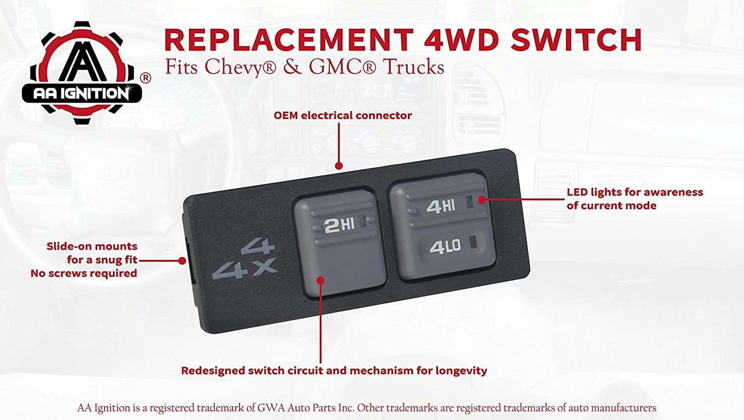 1999 gmc suburban wiring diagram amazon com replacement 4wd selector switch fits chevy k1500  4wd selector switch fits chevy k1500