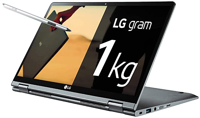 "LG Gram 14T990-G - Ordenador portátil convertible 2 en 1 ultraligero de 14"" FHD IPS (1kg, autonomía 23,5h, Intel i7 8ª gen., 8GB RAM, 512GB SSD, Windows 10 Home) Plata - Teclado Español"