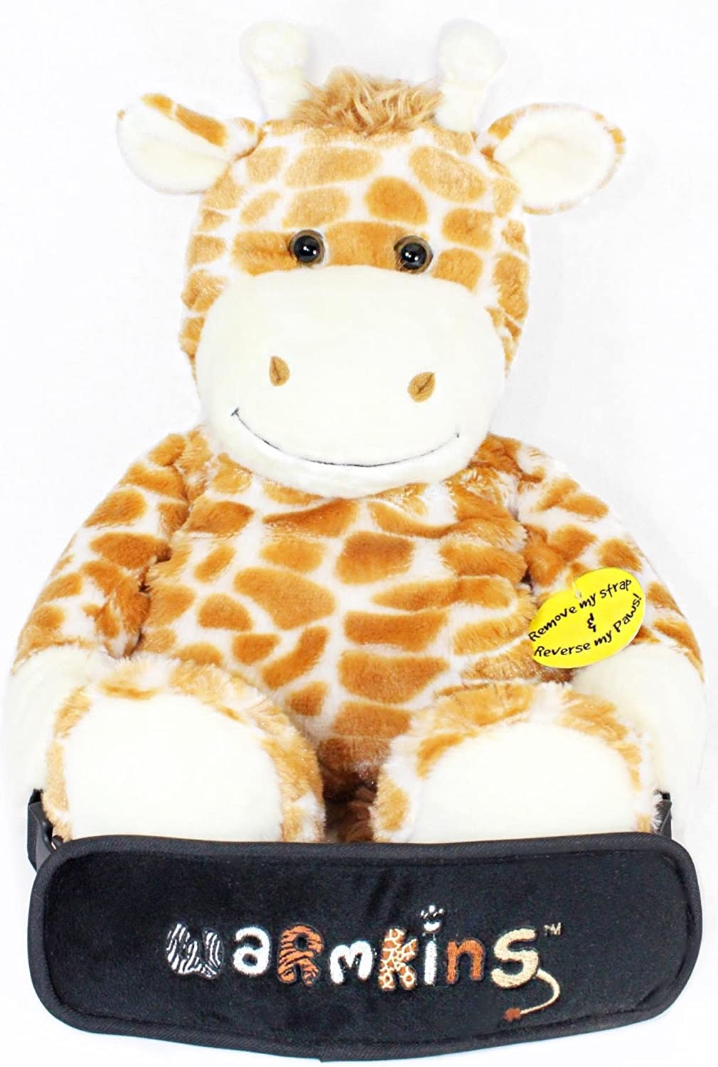"Winston Warmkins Original 18"" Weighted Sensory Plush Giraffe Feels Like a Warm-Hug,Therapeutic,Calming,Comforting.Hot/Cold,Microwavable,Doubles as Backpack and Storage,Removable Straps,Reversible Paws"