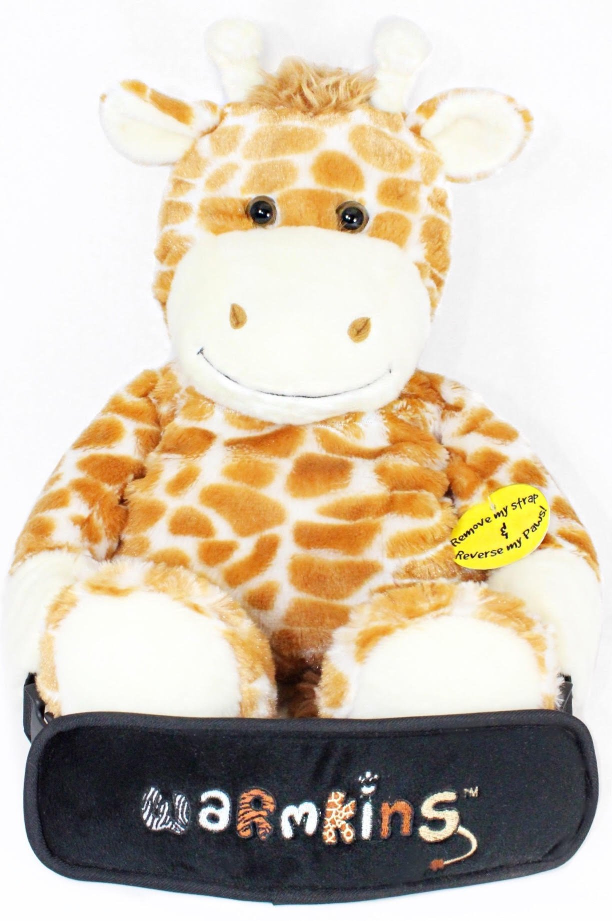 Winston Warmkins Original 18'' Weighted Sensory Plush Giraffe Feels Like a Warm-Hug,Therapeutic,Calming,Comforting.Hot/Cold,Microwavable,Doubles as Backpack and Storage,Removable Straps,Reversible Paws by Warmkins via Orly's Dream