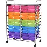Giantex 20 Drawer Rolling Storage Cart Tools Scrapbook Paper Office School Organizer (20 Drawer)