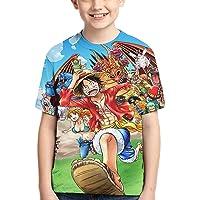 One Piece Camiseta para NiñO Camiseta con Estampado GráFico 3D Camiseta De Manga Corta De Verano para NiñOs Camisetas De…