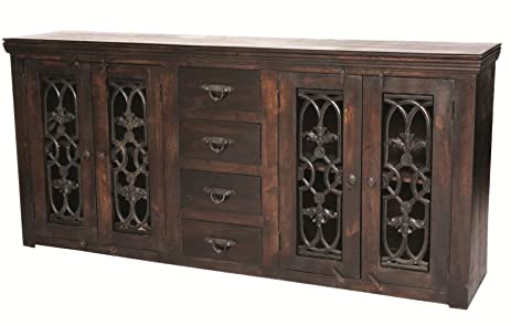 Moti Furniture Bliss Diamond Buffet With 4 Doors And 4 Drawers