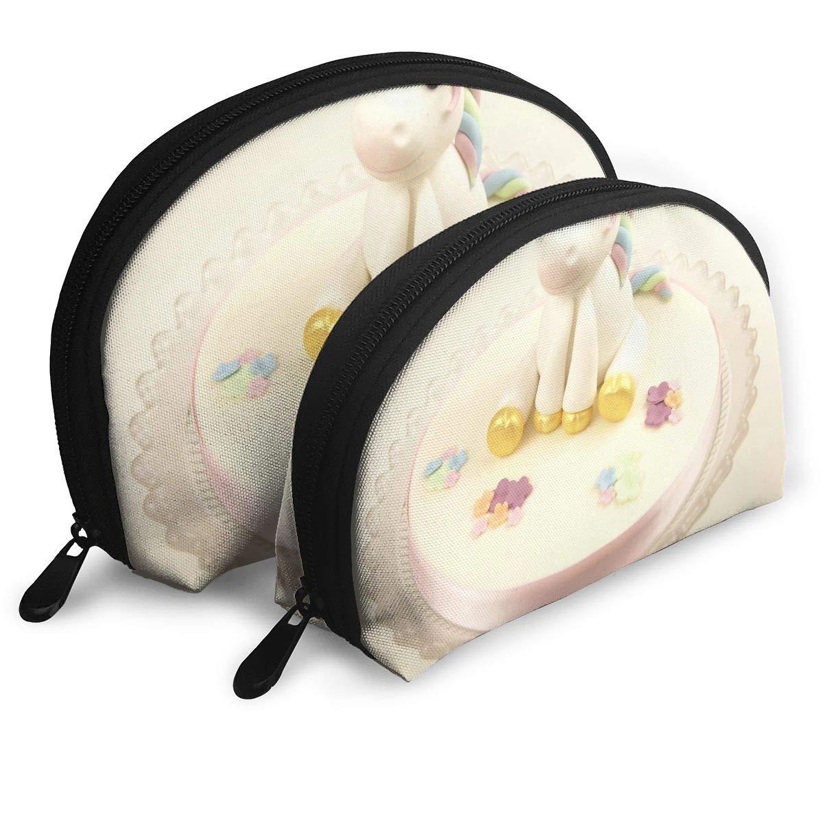 Toiletry Organizer Travel Makeup Clutch Bag Rainbow Unicorn Model Guide Portable Pouch Storage Bags