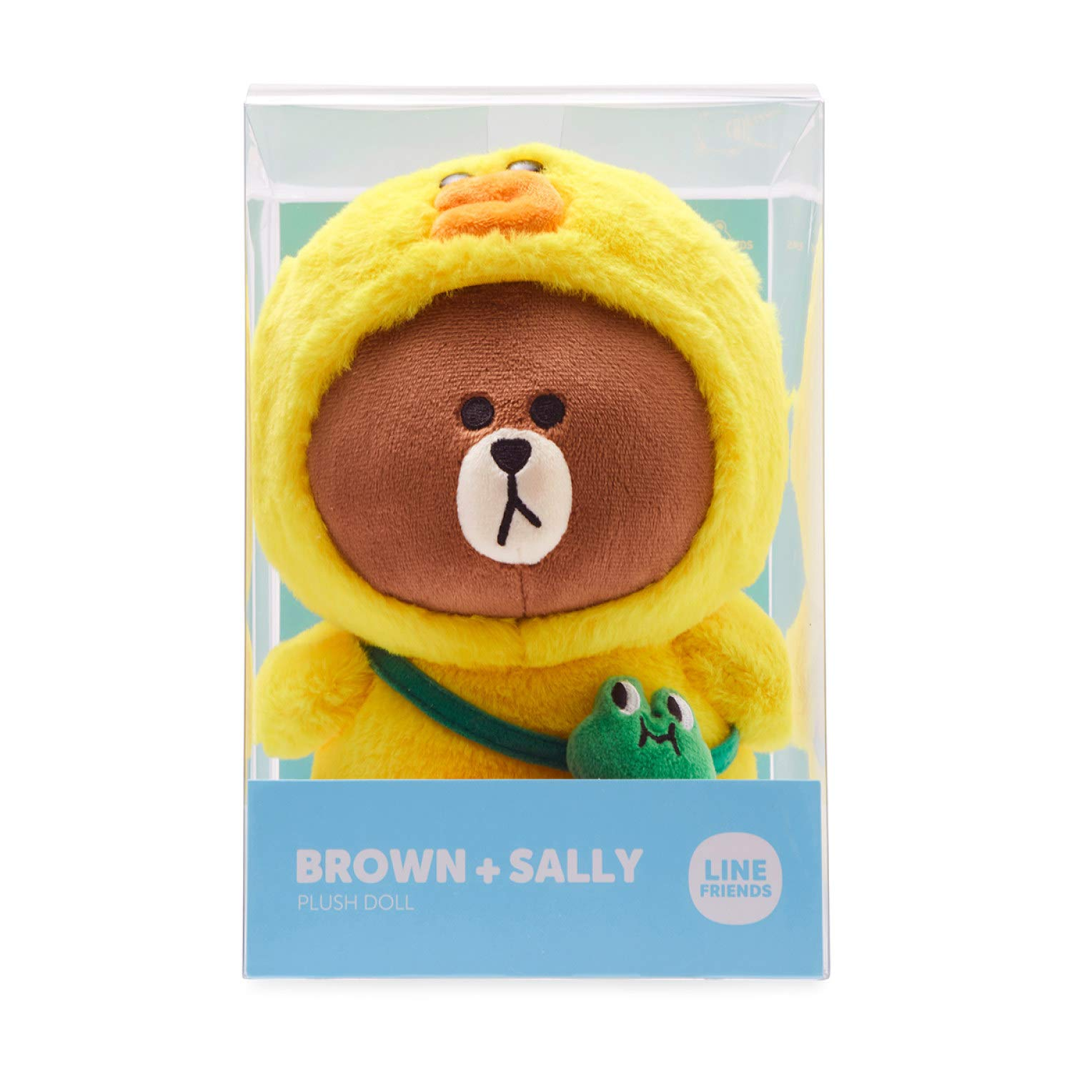 Brown in Sally Character Costume Soft Toy Figure 10 Inches Yellow//Brown LINE FRIENDS Plush Standing Doll