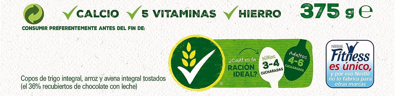 Cereales Nestlé Fitness con chocolate con leche - Copos de trigo integral, arroz y avena integral tostados - 16 paquetes de cereales de 375g: Amazon.es: ...