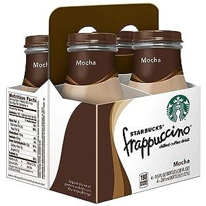 Starbucks Frappuccino, Mocha, Coffee Drink, 9.5 Fl Oz (pack of 4)
