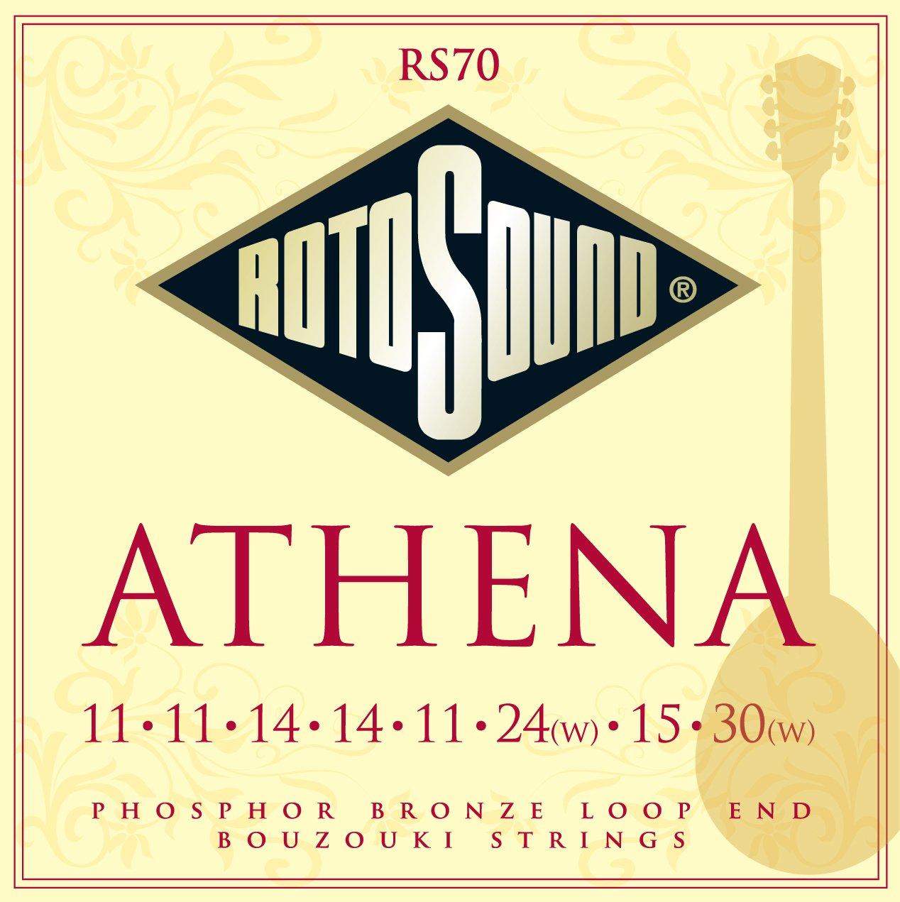 Rotosound RS70 Athena Phosphor Bronze Loop End 8 String Bouzouki Strings