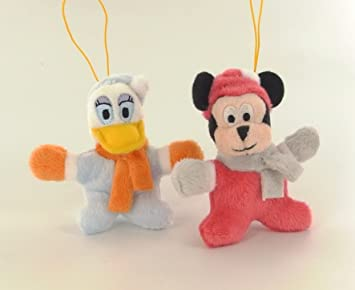 Disney Mickey mouse Pack de 2 straps peluche Mickey, Daisy invierno