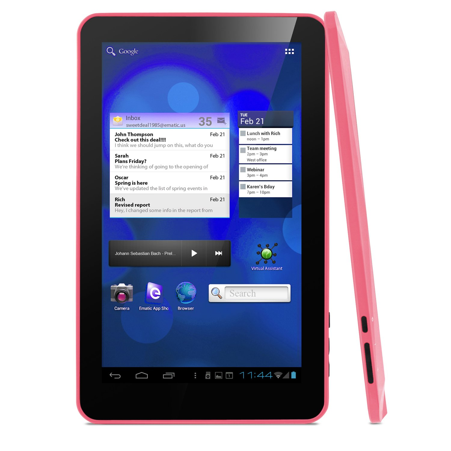 Amazon.com: Ematic eGlide XL Pro II Internet Android 4.0 ...