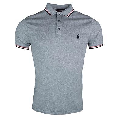 e4665f753af1fc Ralph Lauren Polo - Polo Jersey Gris  Amazon.fr  Vêtements et ...