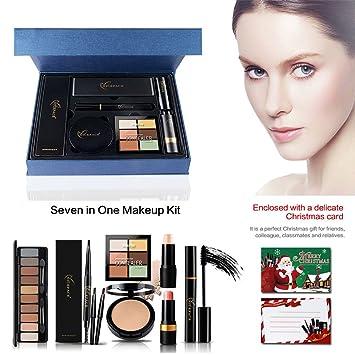 84f53440aa9 Powder, ROMANTIC BEAR Set Combination Powder Foundation Blush Highlight Pen  Eyeshadow Mascara Eyebrow Pencil Face