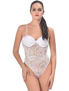 MarysGift Plus Size M-5XL UK 8-22 Sexy Lingerie Teddy One Piece Lace  Babydoll Nightwear… 83f1a5301