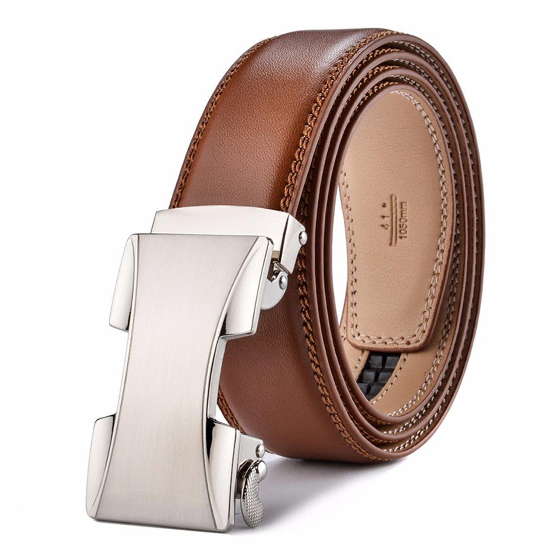 Anieca Belts Men Leather Belt Men Automatic Buckle Belt