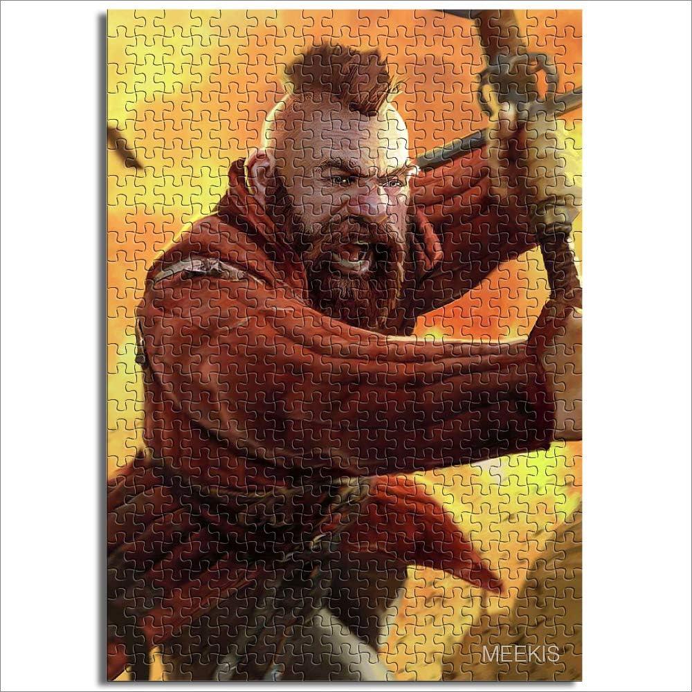 Rompecabezas Juguetes para adultos y niños The Witcher Juego de cartas King Power Lost Warrior Duel Bear Horror Demon Mini 1000Pcs Papel