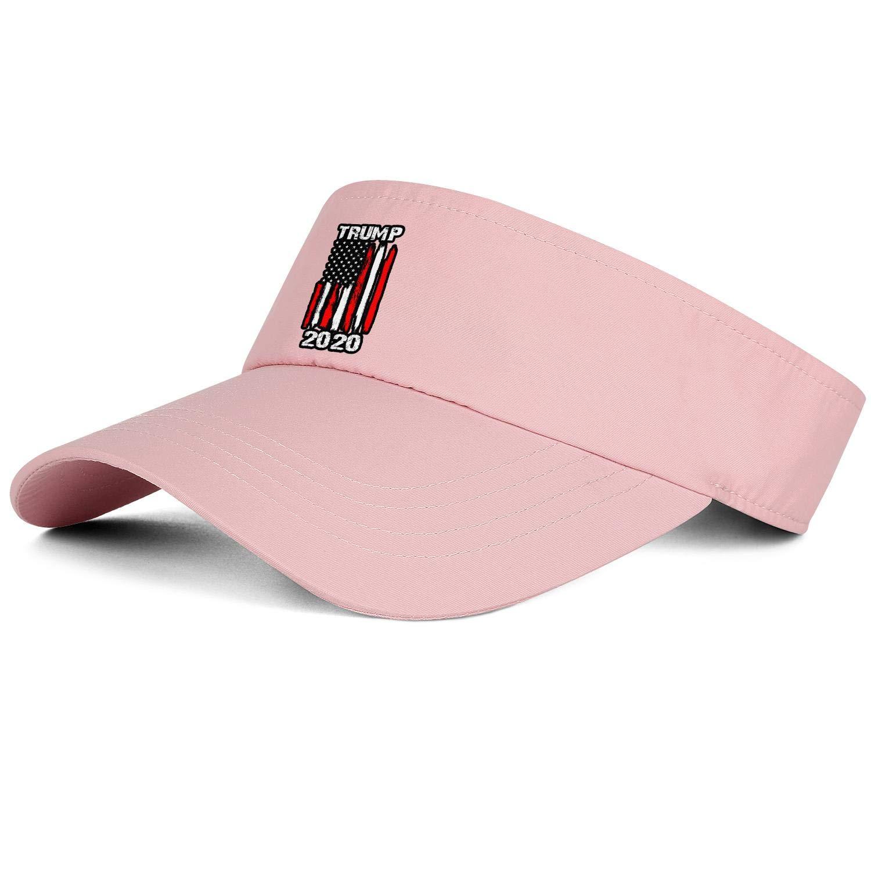 LDOEPWQDG Trump 2020 Visor Hats Women Mens Adjustable Hats for Golf Tennis Tennis Cycling Running & Hiking