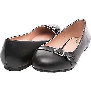 145b135da4 Luoika Women's Wide Width Flat Shoes - Comfortable Slip On Round Toe Ballet  Flats