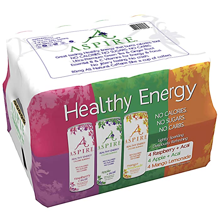 Aspire Healthy Energy Drink 12 Piece Variety Pack