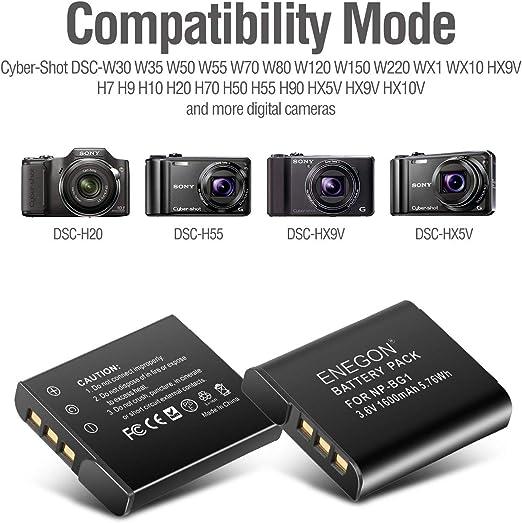 Np Bg1 Enegon Batterie Und Schnell Ladegerät Für Sony Kamera