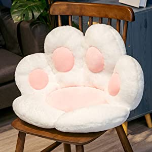 AHRIWINK Cat Paw Shape Floor Chairs Pillows Office Cushion Comfy Chair Bear's Paw Lazy Sofa Kawaii Cozy Warm Seat Skin-Friendly Floor Mat Specially Designed for Home Funny Gifts for Kids,White,6070cm