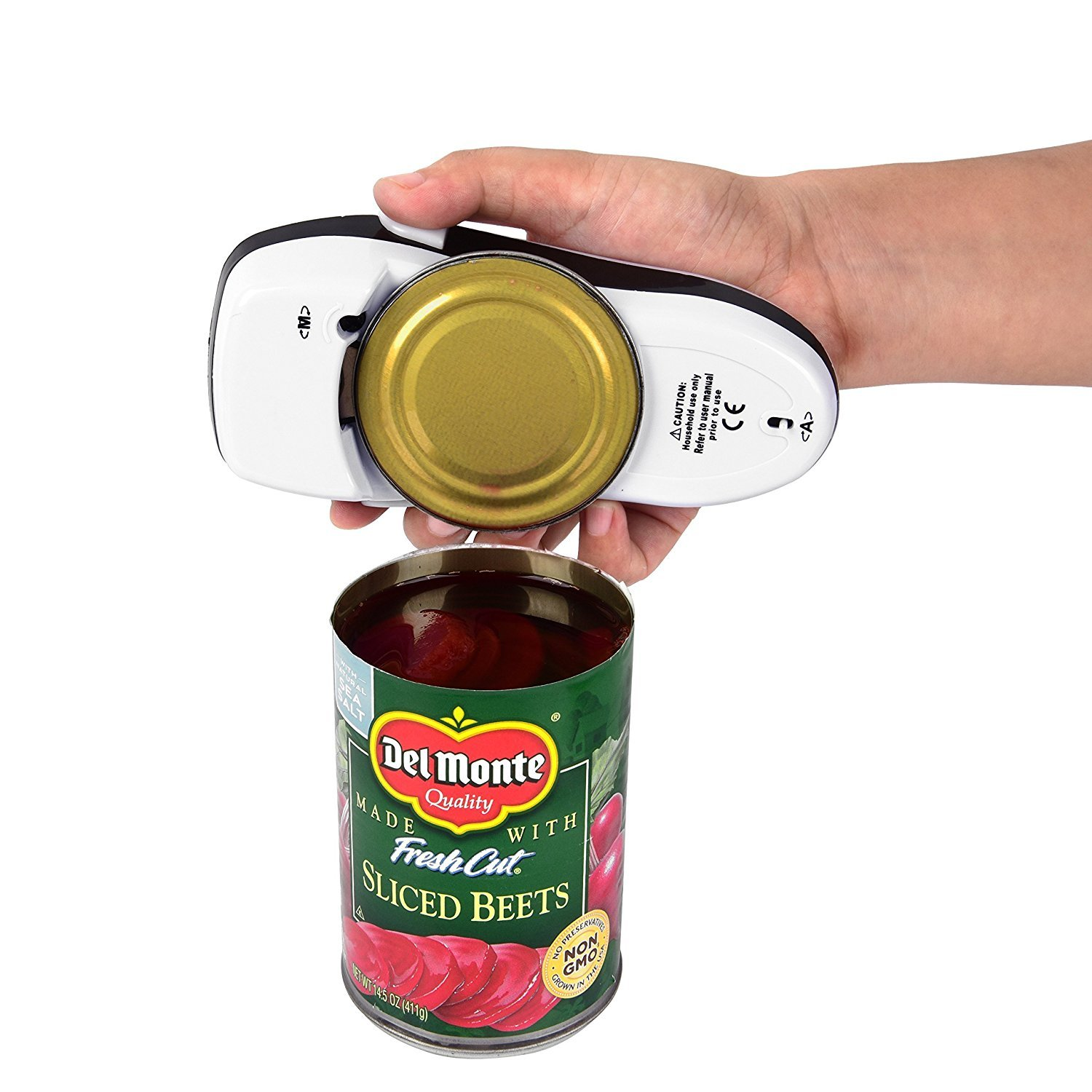 One Touch Electric Can Opener, Kitchen and Restaurant Can Opener, Smooth Edge Auto Can Opener, Full – Automatic Hands Free Can Opener