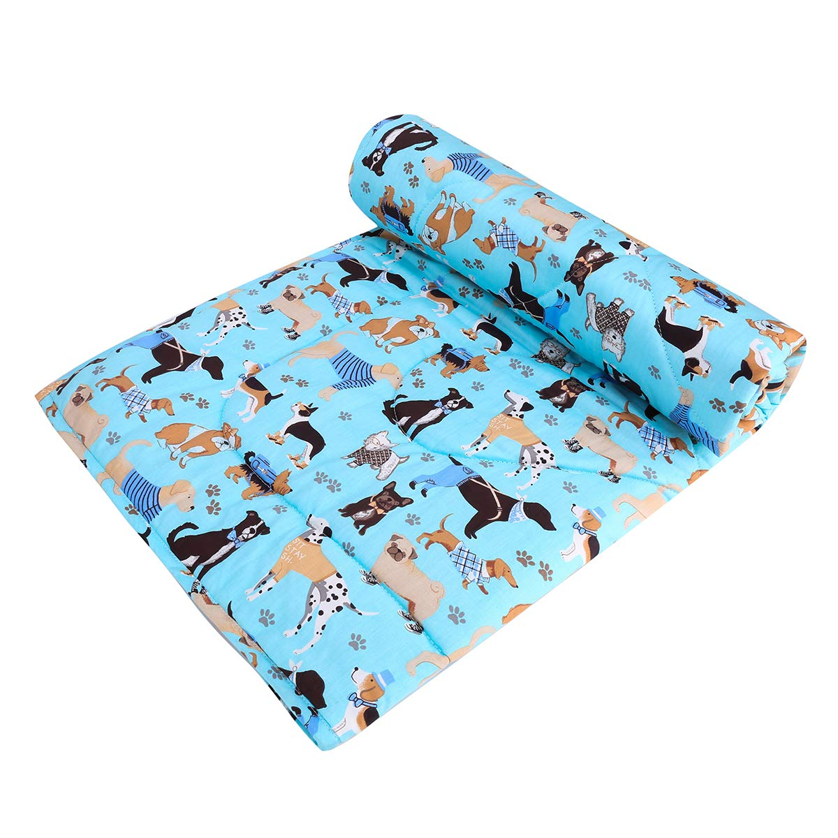 """UOMNY Baby Blanket - Soft Cot Comforter Crib Baby Quilts for Boys and Girls 1 Pack Cotton Baby Blanket Cradle Quilt Nursery Bed Throw Blanket Bed Cover 33"""" X 42"""" Lightweight Blanket (Dog Pattern)"""