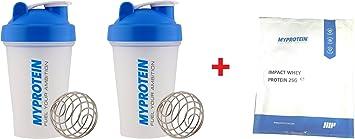 2-pack Myprotein Shaker Bottle Proteína de Suero de impacto ...