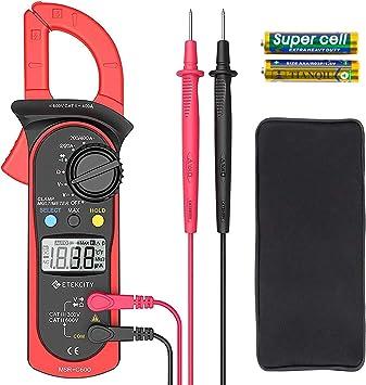 600A 5999 Digital Clamp Meter Tester NCV AC//DC Volt Multimeter Auto Ranging
