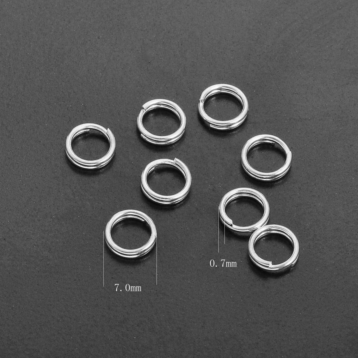 Silber Sterling Silber 5mmx0.5mm YF 925 Sterling Silber Spaltring f/ür DIY Schmuckherstellung