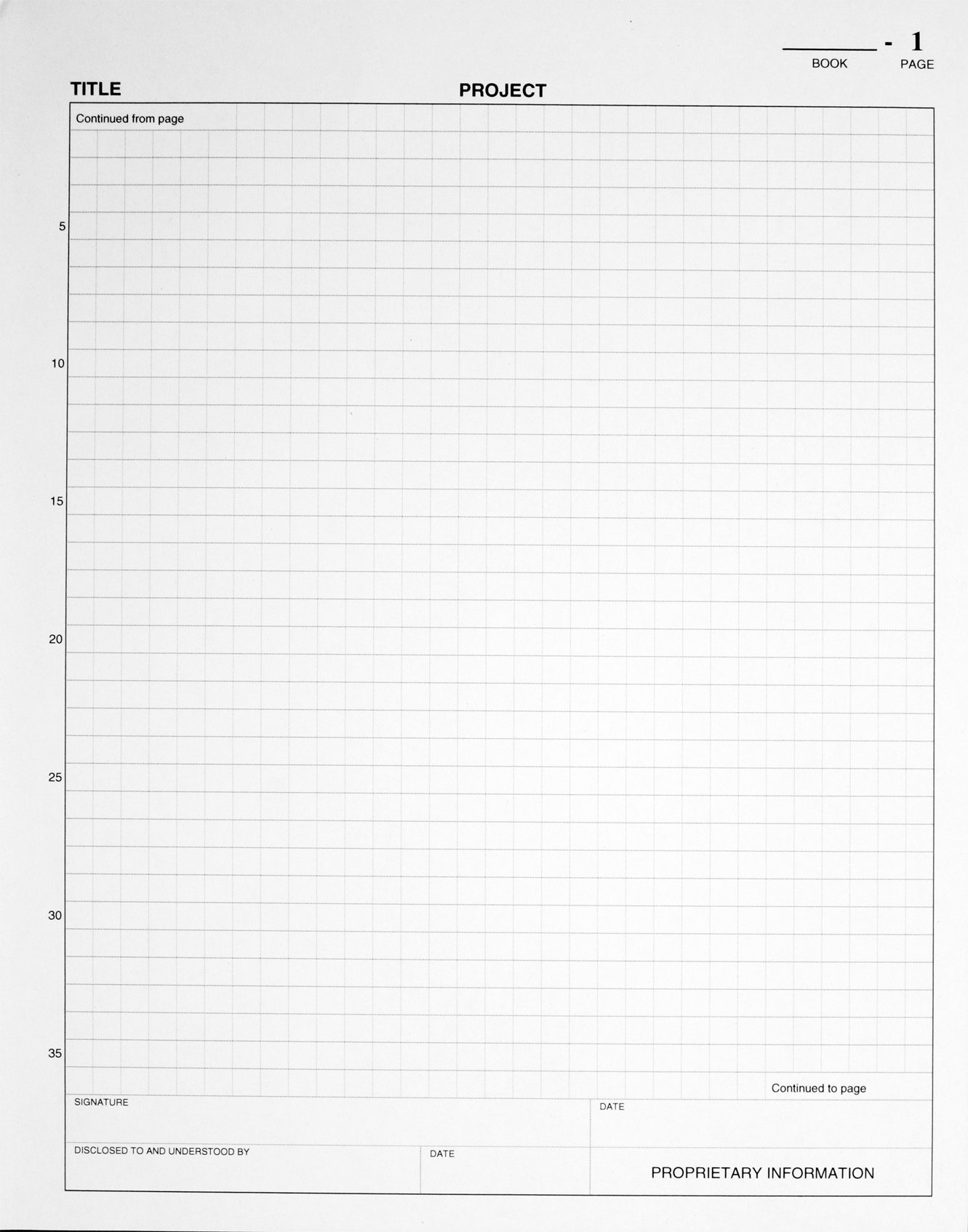 BookFactory Black Research Notebook - 312 Pages (.25'' Grid Format), 8'' x 10'', Black Cover, Smyth Sewn Hardbound (LIRPE-312-SGR-A-LKT6)