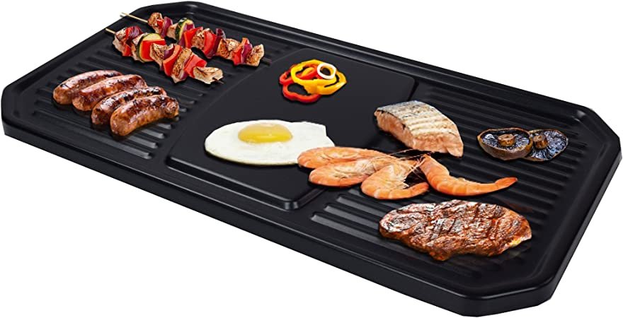 syntrox Germany Stainless Steel Design Raclette Thurgau with Grill and Hot Stone for 4 persons