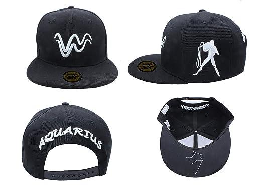 d83728020f0 Baseball Cap Hat Zodiac 12 Constellation Hip Hop Snapback logos black white  (Aquarius)