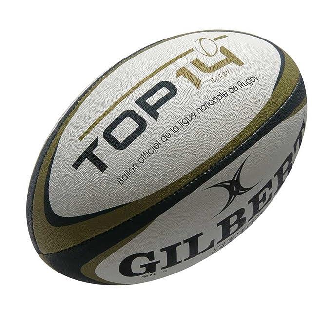 Gilbert Top 14 Zenon Entrenamiento Pelota Rugby Blanco, negro y ...