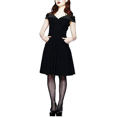 Hell Bunny - Vestido - para mujer Negro Blanco Y Negro 38