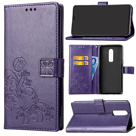 buy online 2c86d b2099 Amazon.com: OnePlus 6 Phone Case,OnePlus 6 Leather Flip Case,OnePlus ...